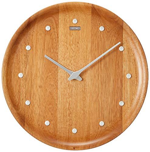 セイコークロック掛時計天然色木地直径270×37mmアナログKX622A