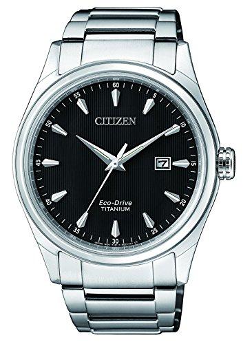 CITIZEN Herren Datum klassisch Solar Uhr mit Titan Armband BM7360-82E