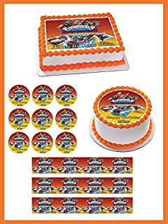 Skylanders Superchargers Edible Cake Topper & Cupcake Toppers - 1.8' cupcake (20 pieces/sheet) inches