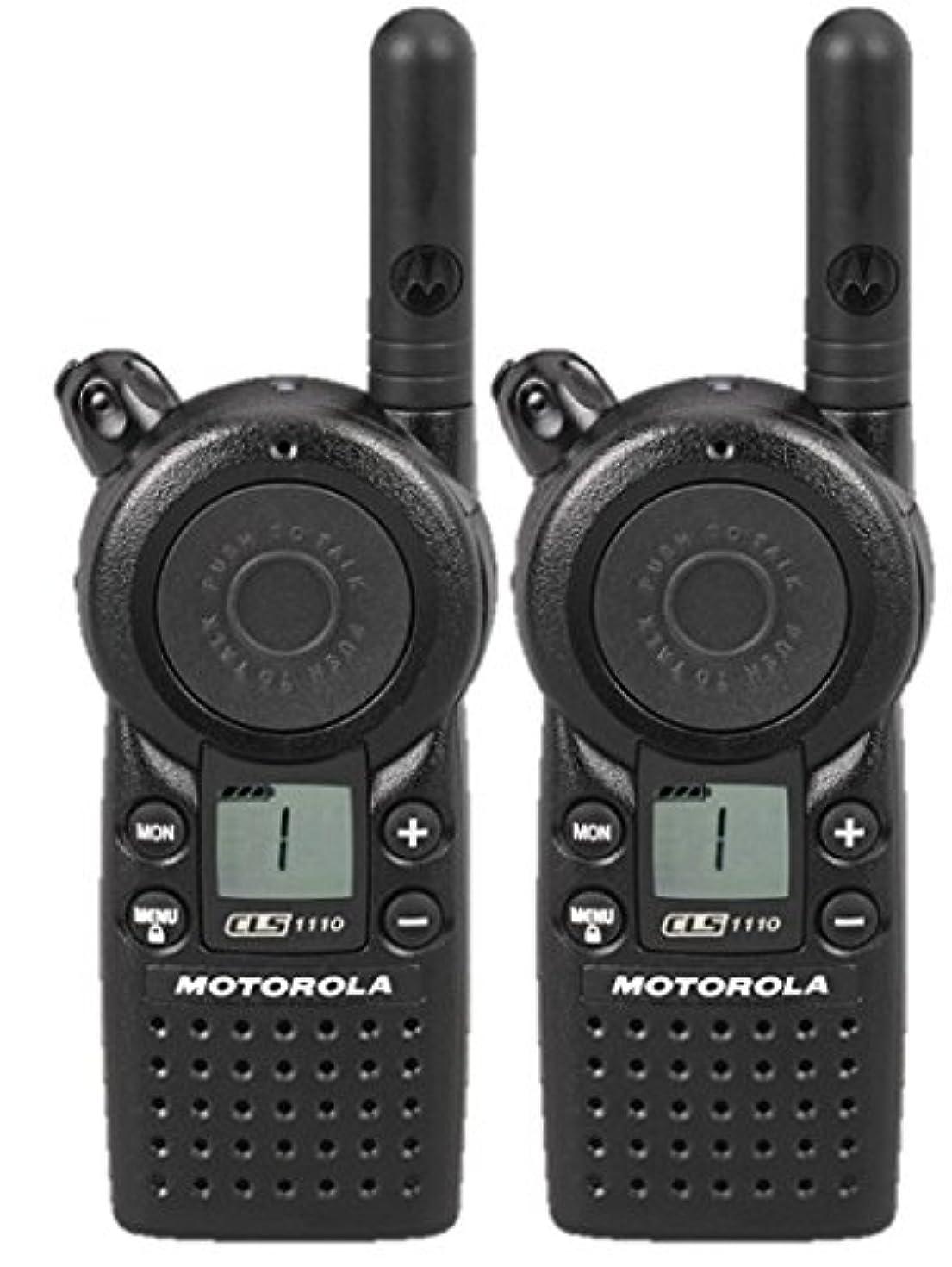 2 Pack of Motorola CLS1110 Two Way Radio Walkie Talkies (UHF)