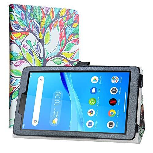 LiuShan Cover per Lenovo Tab M7 Custodia,Slim Sottile Pieghevole con Supporto in Piedi Caso per Lenovo Tab M7 (TB-7305F)/Tab M7 (3rd Gen) TB-7306X Tablet(Non per Lenovo Smart Tab M8),Love Tree