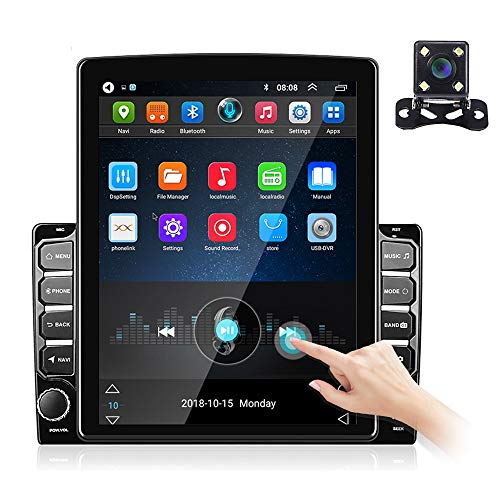 9.7'' Vertical Touchscreen Double Din Android Car Stereo with GPS Navigation Car Radio MP5 Player Support Bluetooth WiFi FM Radio DVR iOS/Android Mirror Link Reversing Image Input + Backup Camera