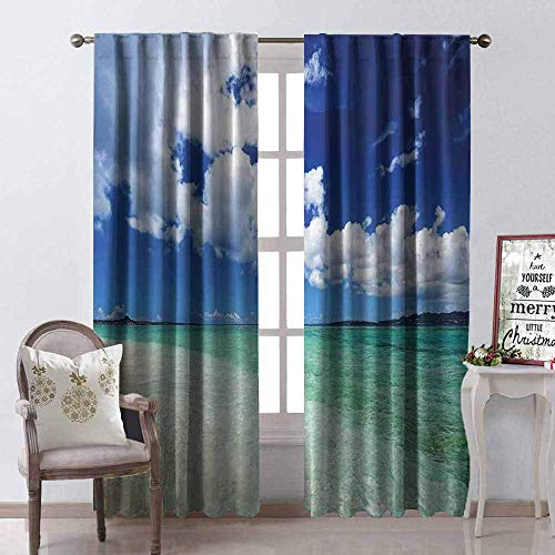 Wild One Curtain gordijn uit de Ocean Ocean Isle of Life Wave Open zonnezeil zee orilla zand strand afbeelding druk stof waterdicht