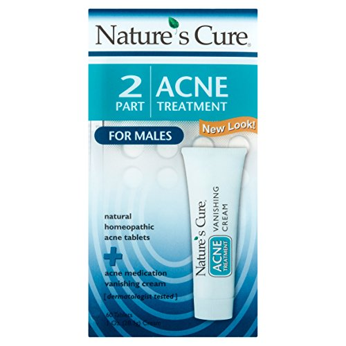 Nature's Cure Two Part Acne Treatment System for Males (1 Month Supply)