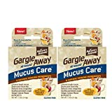 Gargle Away by Nature's Jeannie All Natural Mucus Care- for Mucus Relief, Sinus Congestion, Nasal Drip, Cough, 12 Packets, Ginger Lemon Flavor