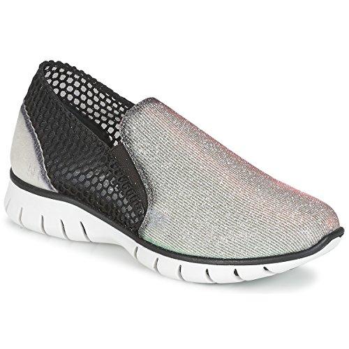 Felmini Arjemise Sneaker Damen Silbern/Schwarz - 37 - Sneaker Low Shoes