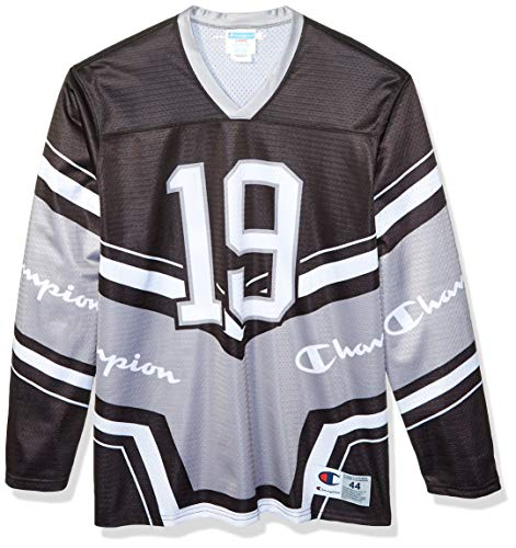 Champion LIFE Men's Hockey Jersey, Black/Concrete/White, Medium