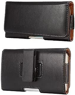 Black PU Leather Horizontal Case Executive Belt Clip Holster for Alcatel Idol 4s / Blackberry DTEK60 / Google Pixel XL / BLU Vivo 6 / Energy X Plus 2 / Grand 5.5 HD / Life XL 4G / Studio 5.5 HD