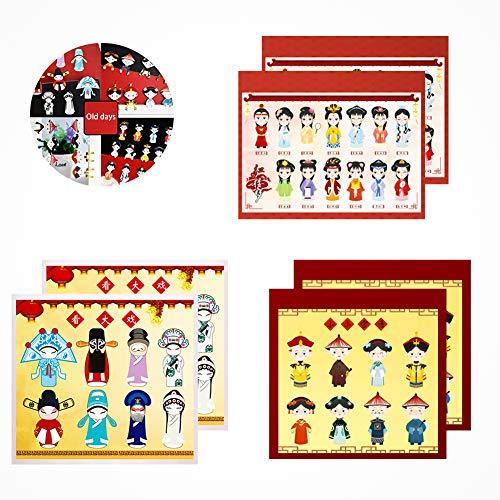 Marcapáginas de estilo chino, elementos clásicos, mini marcadores de ópera de Pekín, regalos de teatro de la corte, marcadores de útiles escolares, 6 juegos