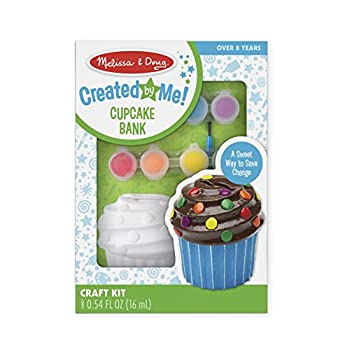 Melissa & Doug Created by Me! Cupcake Bank Craft Kit With 8 Pots of Paint and Paintbrush
