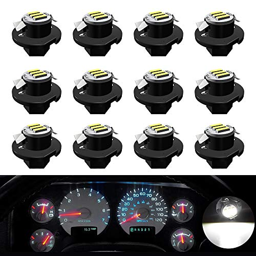 ROCCS Instrument Gauge Cluster Speedometer LED Light Bulbs Compatible with 2002 2003 2004 2005 2006 Dodge Ram 1500 2500 3500, B8.4D White Lights