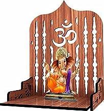 Wall Hanging Wood Home Temple Wooden Singhasan Temple for God/Solid Wood Home Temple/Singhasan for Diwali, Durga Pooja, Na...