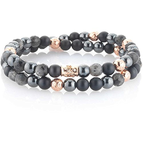 Gerba Men's Bracelet Jewellery 2018 Summer Man Size 35.5 cm Casual Code Double Black