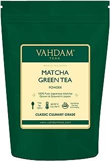 VAHDAM, Matcha Green Tea Powder SUPERFOOD (100 Servings) 100% Pure Authentic Japanese Matcha Powder   Classic Culinary Grade Green Tea Matcha 🍵 137x Anti-OXIDANTS   Matcha Latte Mix & Smoothies