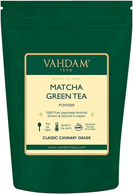 VAHDAM Matcha Green Tea Powder SUPERFOOD 100 Servings 100 Pure Authentic Japanese Matcha Powder Classic Culinary Grade Green Tea Matcha 137x Anti OXIDANTS Matcha Latte Mix Smoothies