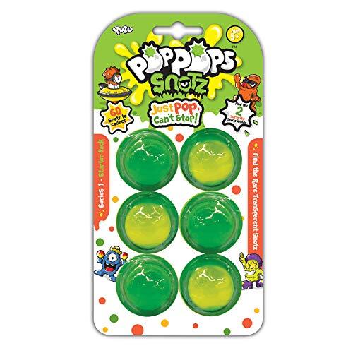 Bandai – pops – Starterpack met 6 pops Snotz – 6 groene slime bubbels voor het verspillen en 2 verrassingsfiguren om te verzamelen – knutselen – kneedmassa – YL07112