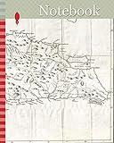Notebook: 1800, Stockdale Map of Hispaniola or Santo Domingo, West Indies, Haiti, Dominican Republic