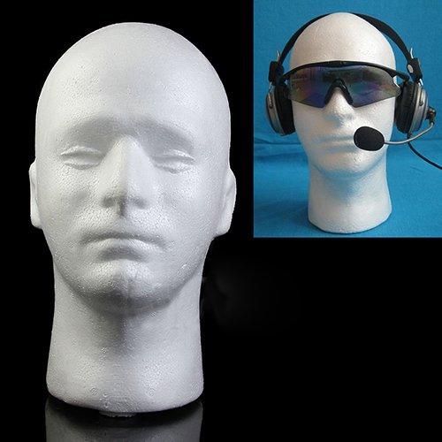 ypypiaol Modelo de cabeza masculina, Espuma práctica Maniquí masculino Maniquí Peluca Gafas Cabello Sombrero Bufanda Soporte de exhibición de la joyería, (1 piezas, 28 cm) Blanco