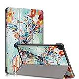 topCASE Funda Carcasa para Samsung Galaxy Tab S6 Lite 10.4 Pulgadas SM - P610/P615 2020 Versión Ultra Delgada Funda con Función de Soporte y Función Automática de Reposo/Vigilia,Deer