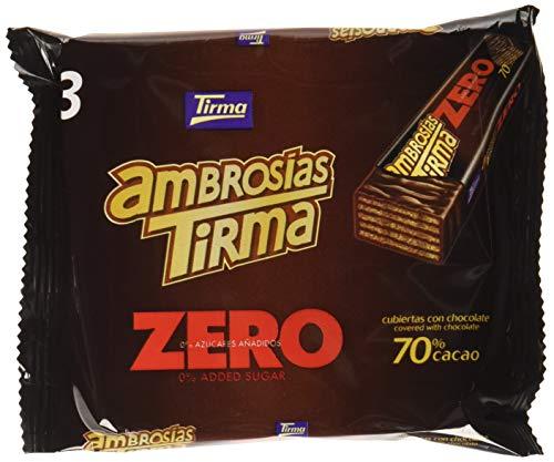 Ambrosías ZERO con relleno recubiertas de chocolate sin azúcares añadidos con edulcorantes - 16 Unidades x 64.5 gr
