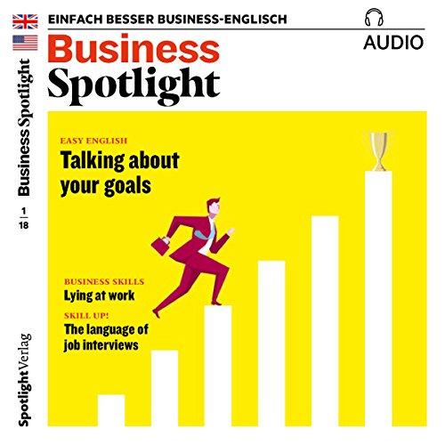 Business Spotlight Audio - Lying at work. 1/2018 Titelbild