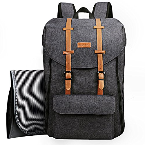 Baby Travel Backpack, Changing Bag Large Capacity with Changing Bag/Straps for Stroller/Insulating Pockets (EU5312DG)