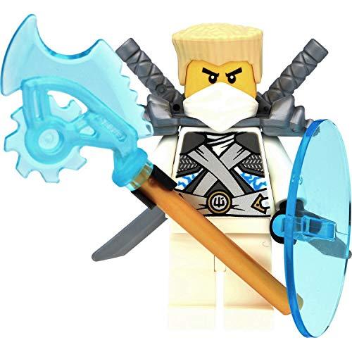 Dimensioni della minifigura LEGO: circa 4,5 cm Questa minifigure Lego è stata realizzata solo nel kit 70728 del 2014. ️ Come bonus gratuito incluso: lama Lego Techno, 2 spade Lego e scudo Lego Consegnati in confezione di vendita colorata (blister pie...