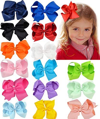 Fanspack Lint Boog Haar Clip Pure Kleur Haarspeld Haaraccessoires Voor Baby Meisjes Kinderen Tieners Peuters Kinderen 40 Stks (Multi kleuren)