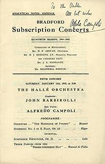 Alfredo Campoli - Inscribed Program Signed 01/13/1945
