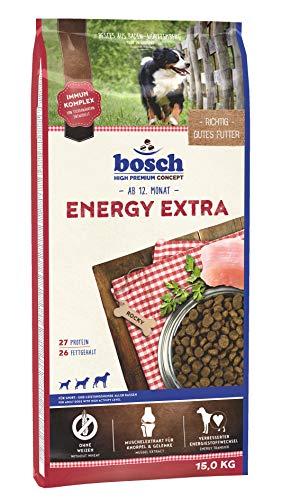 bosch HPC Energy Extra | Alimento seco para perros de deporte y rendimiento de todas las razas | 1 x 15 kg