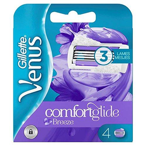 Venus Comfortglide Olaz Spa Breeze Rasoir Femme, Pas Besoin de Crème de Rasage, Pack de 4 [OFFICIEL]