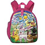 E_Evee Pokemon Branch Kids Backpack Toddler Schoolbag Bookbag Preschool Backpacks Children Bag Gift for Kids Girls Kindergarten Elementary School Outing
