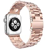 Evershop 38MM Watch Strap Band for Series 4/3/2/1, Watch Band Stainless Steel Replacement Watch Strap Wrist Band with Metal Clasp Compatible with Apple Watch iWatch All Models (38mm/40mm)