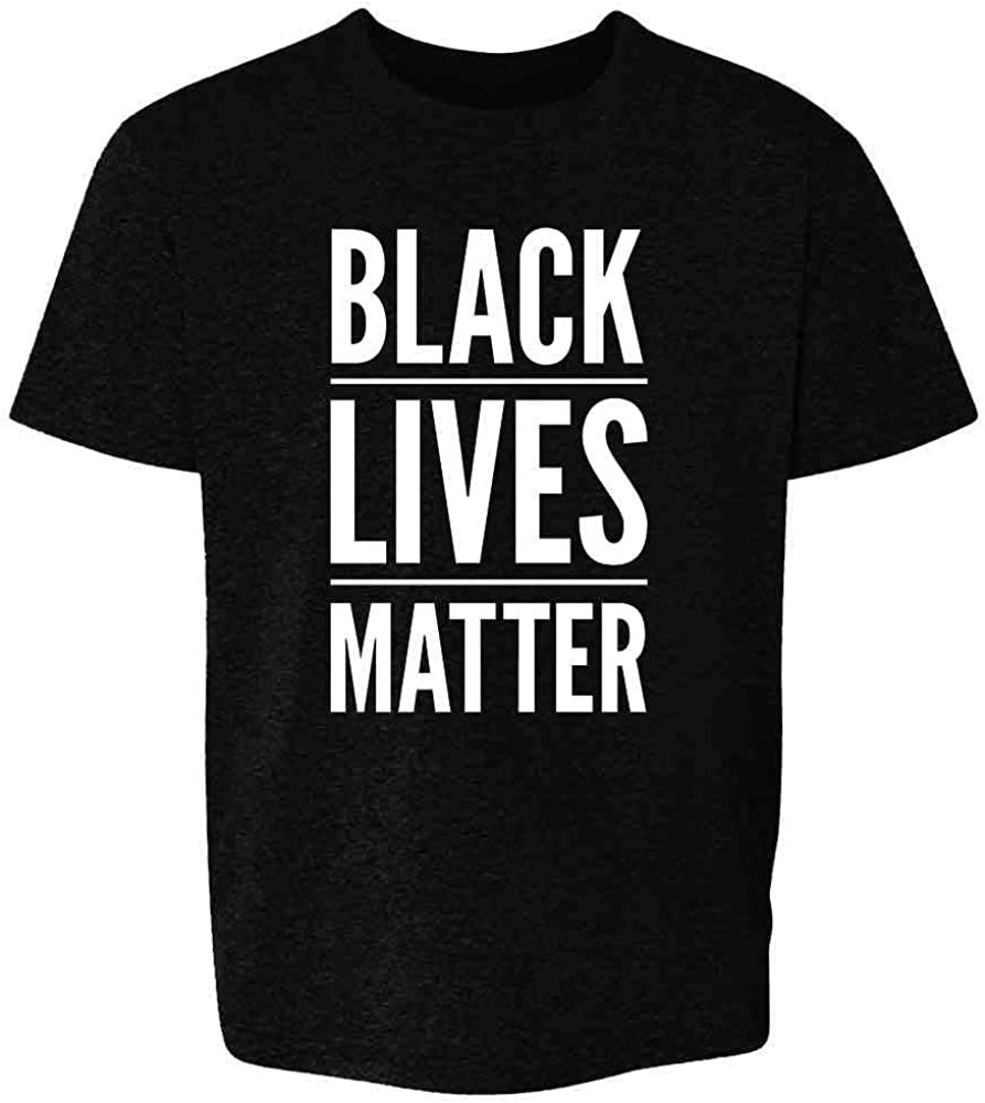 Kids T-Shirt Black and White Black Lives Matter Kids T-Shirt Snellen Eye Chart Unisex Kids T-Shirt Various Colors BLM Kids T-Shirt