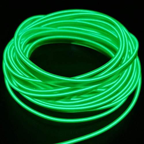 5M USB Neonlicht Elektrolumineszenzdraht Glowing Strobing Dekoratives Licht für Weihnachtsparty Pub Kostüm Cosplay Festival Dekoration(Grün)