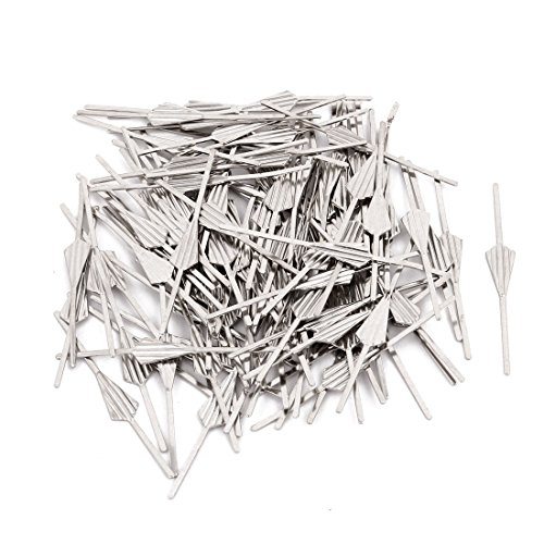 uxcell 100Pcs Chromium Tone 45mm Long Chandelier Connector Clip for Fastening Crystal