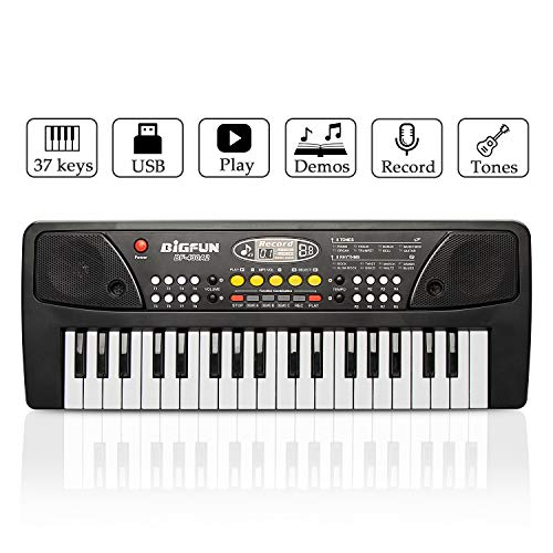 JINRUCHE Kids Piano, 37 Keys Multi-Function Electronic...