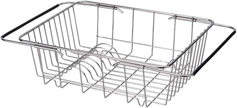 Dedication Over Sink Dish Drainer Steel Stainless Department store Rack Drying