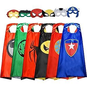 Tisy Regalo de Cumpleaños Niños Niñas 3-12 Años, Ropa de Superhéroe Juguetes para Niños Niñas de 3 -12 Años Disfraces de Superhéroe Regalo de Navidad Niño Niñas 3-12 Años