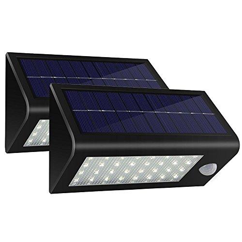 Keepax 136 LED Solar Lights Outdoor, Super Bright Motion Sensor...