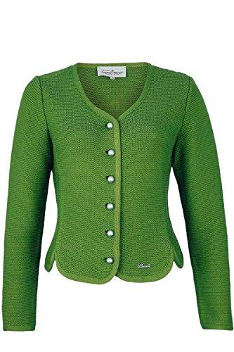 Turi Landhaus Damen Dirndljacke Strick grün, 465 grün, 34