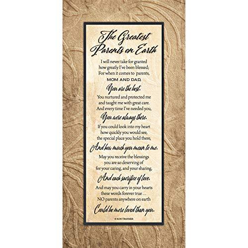 Greatest Parents Wood Plaque Inspiring Quotes 6 3/4' x 13 5/8' -...