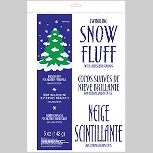 amscan Winter Wonderland Faux Snow | Christmas Decoration,White,5 oz