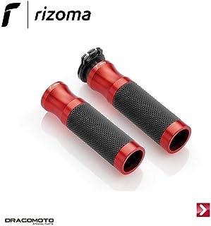 Rizoma Motorradgriffe Lenkergriffe Sport Alu für 22mm GR205R rot, Unisex, Multipurpose, Ganzjährig