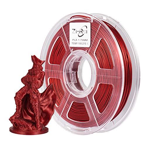 Zi-Rui Filamento PLA para impresora 3D, brillante Galaxy Glitter Red, 1,75 mm, 600 g (0,6 kg)/carrete