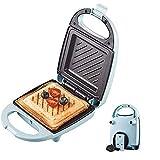 YFGQBCP Máquina de Pan Sandwich Toaster 4-IN-1 Snack Maker con Waffle, sándwich Toaster/Toastie Maker, máquina de Desayuno La Barbacoa de Doble Cara/Máquina de la Tortilla con Recubrimiento de no