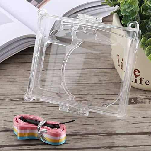 Hangmao - Carcasa protectora para cámara de cristal con correa para FUJIFILM Instax Mini 90 (transparente)