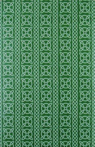 St. Patrick's Day Irish Celtic Knot Print Vinyl Flannel Back Tablecloth (52' x 52' Square)