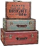 Artesanía vintage caja de madera maleta decoración tienda decoración accesorios decoración decoración mesa...