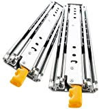 YENUO Heavy Duty Drawer Slides 22 Inch with Lock, Full Extension Ball Bearing, 500 lb Load Capacity, 1 Pair (32 inch(800mm))